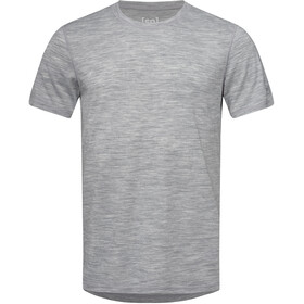 super.natural Base 140 Tee Men ash melange